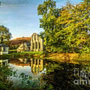 Abbey Lake Autumn Poster