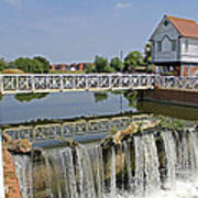 Abbey Mill And Weir Poster