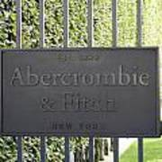 Abercrombie And Fitch Store In Paris France Poster