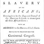 Abolitionist Tract, 1776 Poster