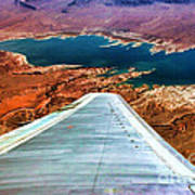 Above Lake Mead By Diana Sainz Poster