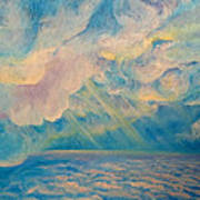 Above The Sun Splashed Clouds Poster