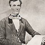 Abraham Lincoln, 1809 – 1865, Seen Here In 1854.  16th President Of The United States Of America Poster