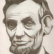 Abraham Lincoln Drawing Poster