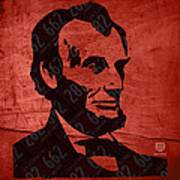 Abraham Lincoln License Plate Art Poster