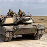 Abrams M1a1 Main Battle Tank Poster