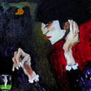 Absinthe Drinker After Picasso Poster