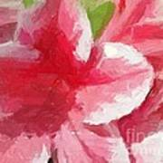 Abstract 106 Pink Painterly Flowers Poster