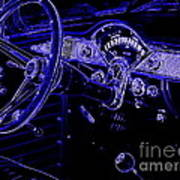 Abstract 1955 Chevy Bel Air  Poster