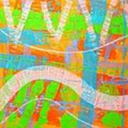 Abstract  23614   Diptych  I  Poster