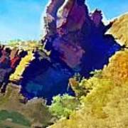 Abstract Arizona Mountain Peak In Autumn Poster
