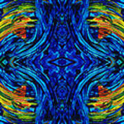 Abstract Art - Center Point - By Sharon Cummings Poster
