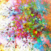 abstract art COLOR SPLASH on Square Poster