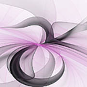 Abstract Art Fractal With Pink Poster