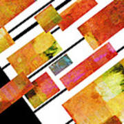 abstract art Homage to Mondrian Poster