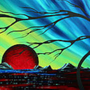 Abstract Art Landscape Seascape Bold Colorful Artwork Serenity By Madart Poster
