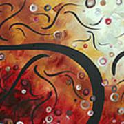 Abstract Art Original Circle Landscape By Madart Poster
