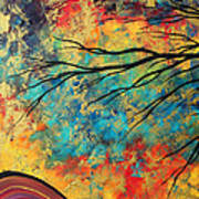 Abstract Art Original Landscape Painting Go Forth I By Madart Studios Poster