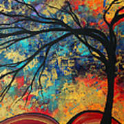 Abstract Art Original Landscape Painting Go Forth II By Madart Studios Poster