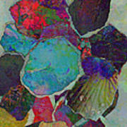 Abstract Art Torn Collage  Poster by Ann Powell