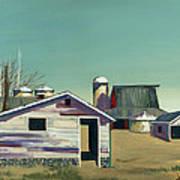 Abstract Barn Poster