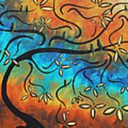 Abstract Bird Painting Original Art Madart Tree House Poster