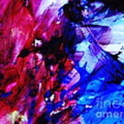 Abstract Blue And Pink Festival Poster by Andrea Anderegg