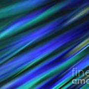 Abstract Blue Green Diagonal Blur Poster