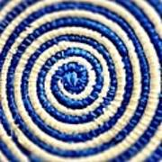 Abstract Blue Swirl Poster