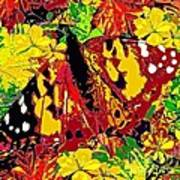 Abstract Butterfly #3 Autumn Poster
