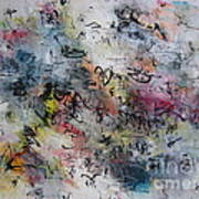 Abstract Butterfly Dragonfly Painting Poster