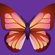 Butterfly Graphic Orange Pink Purple Poster