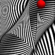 Abstract - Catch The Red Ball Poster by Mike Savad