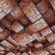 Abstract Ceiling Stone Construction  Poster