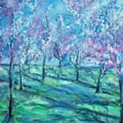 Abstract Cherry Trees Poster