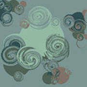 Abstract Circles Pattern Background Poster