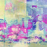 Abstract City Poster by Mark-Meir Paluksht