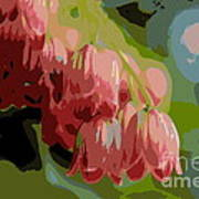 Abstract Coral Bells Poster