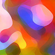 Abstract Dappled Sunlight Poster by Amy Vangsgard