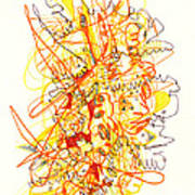 Abstract Drawing Fifty-three Poster