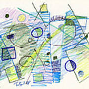 Abstract Drawing Seven Poster