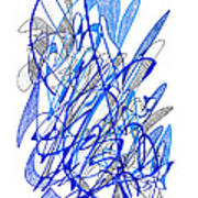 Abstract Drawing Seventy Poster