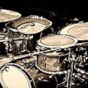 Abstract Drum Set Poster