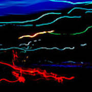 Abstract Evening Lights 2 Poster
