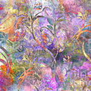 Abstract Floral Designe  Poster