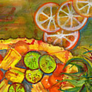 Abstract Food Kitchen Art Poster
