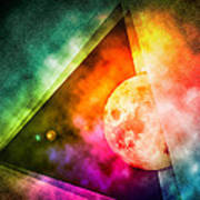 Abstract Full Moon Spectrum Poster