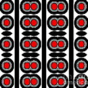 Pattern Black White Red Art No. 379. Poster by Drinka Mercep