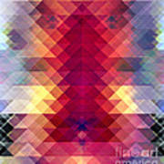 Abstract Geometric Spectrum Poster