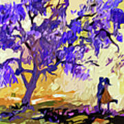 Abstract Jacaranda Tree Lovers Poster by Ginette Callaway